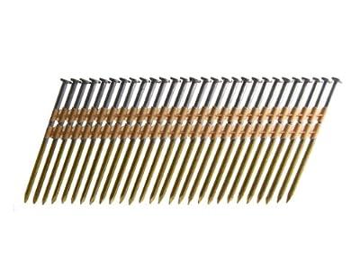 B&C Eagle 312X131HD/22B Round Head 3-1/2-Inch x .131 x 22 Degree Hot Dip Galvanized Smooth Shank Plastic Collated Framing Nails (4,000 per box) by B & C Eagle