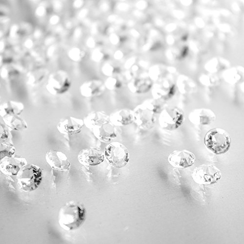 Diamond Table Confetti Party Toy Decorations for Weddings, Bridal Shower, Birthdays, Graduations, Home, and More. 800 Count, 4 Carat/8mm Jewels
