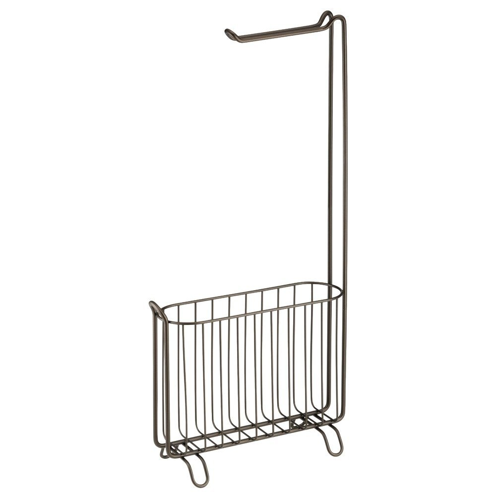 InterDesign Classico Free Standing Toilet Paper Holder And Magazine Rack ... New