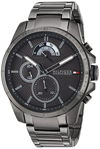 Tommy Hilfiger Men's Cool Sport Quartz Watch with Resin Strap, Grey, 21 (Model: 1791347)