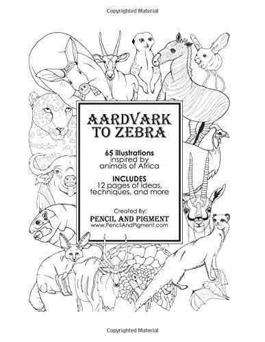 Read Online Aardvark to Zebra: Animals of Africa Coloring Book PDF