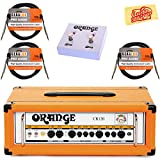 Orange CR120H Crush Pro 120 Guitar Amplifier Head Bundle with Orange FS-2 Footswitch, Instrument Cables, and Austin Bazaar Polishing Cloth