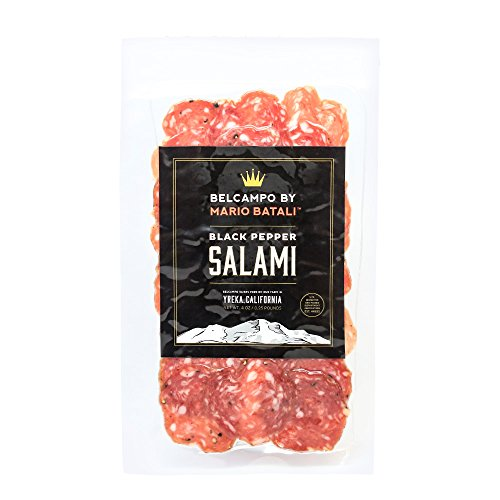 Belcampo by Mario Batali Sliced Black Pepper Salami, 4 oz.