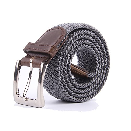 Canvas Elastic Fabric Woven Stretch Multicolored Braided Belts - Canvas Belt