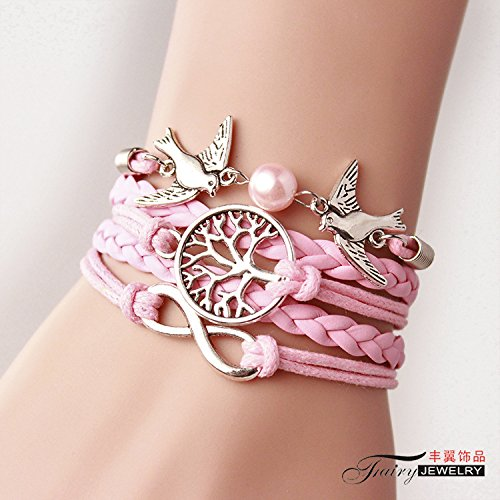 The tree of life bracelet and alloy fittings birds hand-woven bracelets bracelets Yiwu small jewelry gift-giving