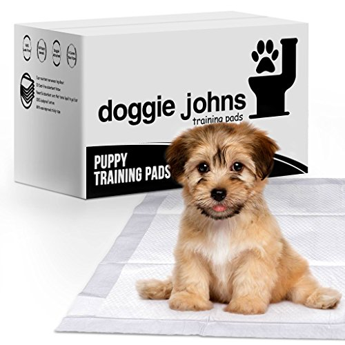Doggie Johns Premium Puppy Training Pads | Super Absorbent - Odor Neutralizer - Dog Attractant - Improved Floor Tape | 100 Count Large (24inx24in)