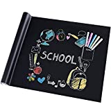 rabbitgoo Vinyl Blackboard Chalk Board Sticker Self Adhesive Wall Paper Contact Paper Wrapping Paper 44.5 x 200CM for Home, Child Room, School & Office, Bar, Shop with 5 Free Regular Chalk Sticks
