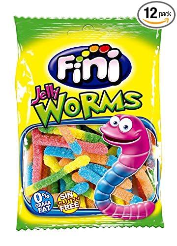 amazon com fini sour worms 12pk x 3 5oz 100g kosher halal