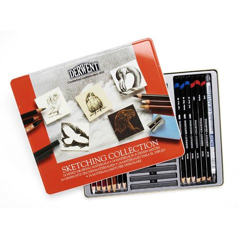 Bulk Buy: Darice DIY Crafts Derwent Sketching Tin Set 24 pieces (3-Pack WIN34306 by Darice