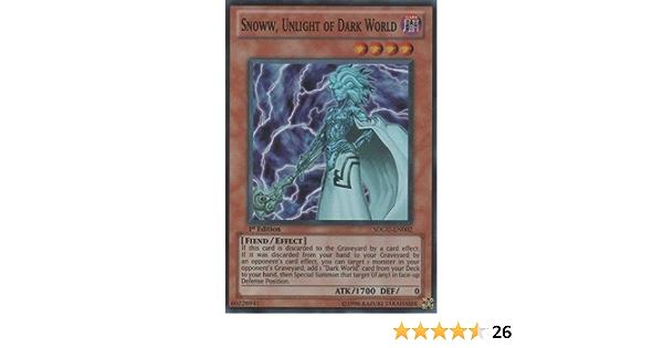 SDGU-EN002 3 Available Super Rare Unlight of Dark World Yugioh Snoww