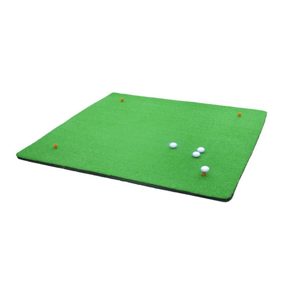 ゴルフマット、携帯2色草片面/両面エクササイザ、シミュレーションスイング練習マット、屋内外 B07H2DXBZJ  Single side