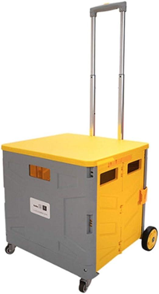 LNYJ Caja de 4 ruedas Carrito de la compra Plegable portátil Caja ...