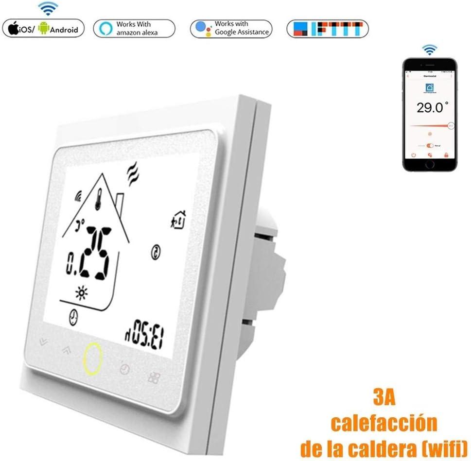 Calistouk Termostato de contacto inteligente WiFi controlador de ...