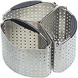 Kitchen Craft MasterClass - Cestelli divisori in Acciaio Inox per pentole, 20cm, Set di 3