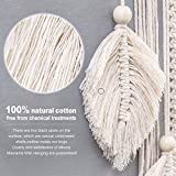 Mkono Macrame Dream Catcher Woven Feather Large