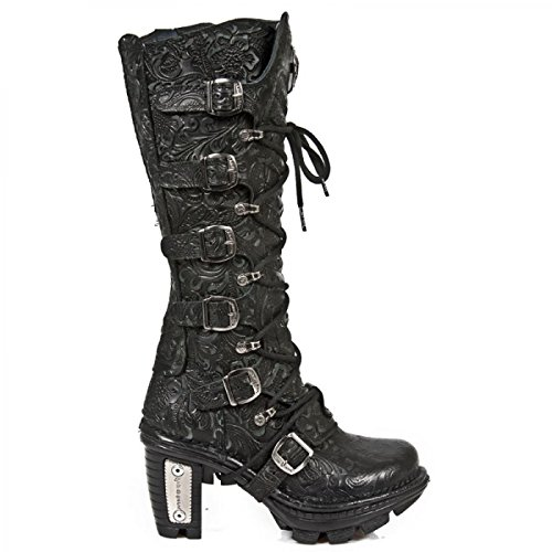 Nuovi Stivali Di Roccia M.neotr014-s1 Gotiche Damen Hardrock Punk Stiefel Schwarz