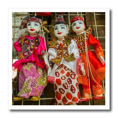 3D Rose Myanmar. Bog Yoke Aung San Market. Traditional Burmese Puppets Iron on Heat Transfer, 8 x 8, (Burmese Rose)
