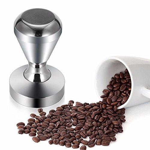 Gosedy Kitchen Accessories Coffee Tamper, 51mm Diameter Stainless Steel Flat Base Grip Handle Bean Barista Espresso Tamper pressure (51mm)
