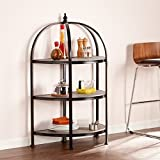 Southern Enterprises Vernon 3-Tier Rotunda in Matte Black