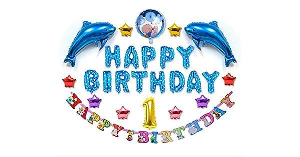 Amazon.com: Bonito juego de globos de fiesta de cumpleaños ...