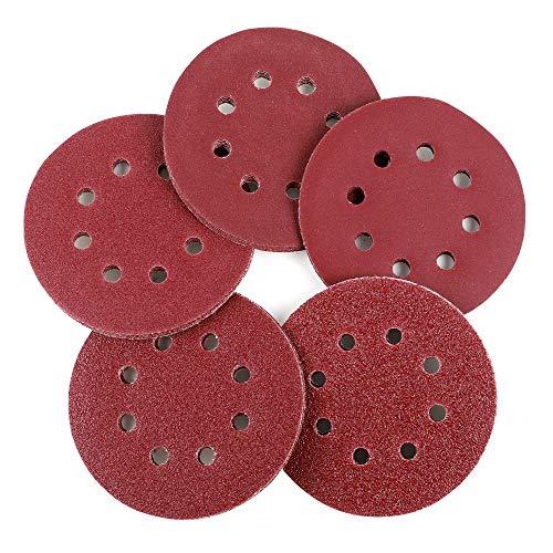 Great Features Of Coceca 100pcs Orbit Sander Sanding Discs 5-Inch 8-Hole Hook and Loop Sandpaper, 20...