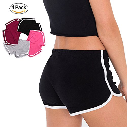 4-pack-women-hot-sports-shorts-gym-workout-yoga-short-athletic-elastic-waist-us-0-2-4-packpinkblackg