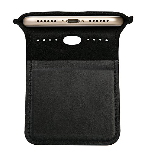 iPhone 7 Case, iPhone 8 Case, TOOVREN Men Leather Slim Cell Phone Sleeve Cover with Magnetic Clip for Apple iPhone 7 (2016) / iPhone 8 (2017) -Black by TOOVREN (Image #8)