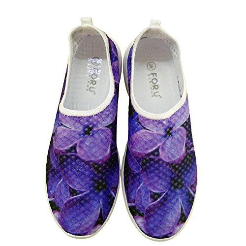 Pour U Conçoit Des Chaussures De Course De Sneaker Maille Confortable Élégant Léger Pour Les Femmes Violet 2