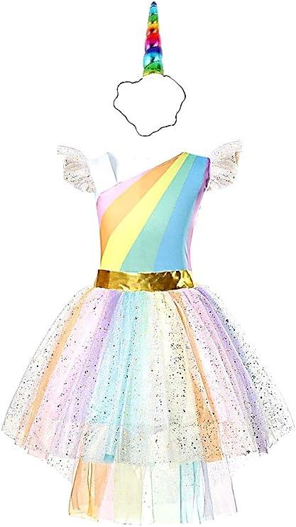 Disfraz de diadema de unicornio - princesa - hada - arcoiris ...