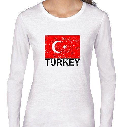 - Turkey Flag - Special Vintage Edition Women's Long Sleeve T-Shirt