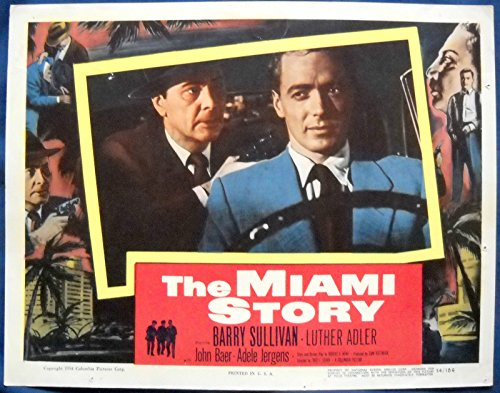 THE MIAMI STORY MOVIE POSTER Man Held at Gunpoint in Car L/C 1954