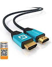 GUARDIEN Câble HDMI 4K Ultra HD 4K, 3D, Full HD, 1080p, 2160p, Arc, Ethernet