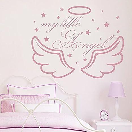 Angel Night /& Day Wall Art Quote Vinyl Transfer Kids Bedroom Decal Sticker
