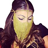 Funpa Party Mask Stylish Metal Chain Face Mask Cosplay Mask for Dance Party