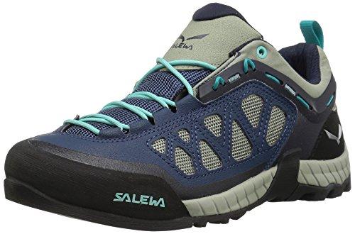 Salewa Women's Firetail 3 Approach Shoes, Dark Denim/Aruba Blue, 8 (Mountain Approach Shoe)
