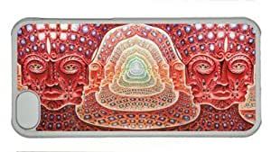 LJF phone case Abstract Music Tool Grey Psychedelic Music Bands Alex Grey ipod touch 4 Hard Shell with Transparent Edges Cover Case by Lilyshouse