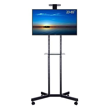 UNHO Soporte Móvil de Suelo para TV Pantallas LCD LED Plasma de 23-65 Pulgadas