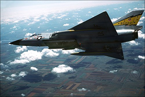 - 24x36 Poster . F-106A Delta Dart From Minot Air Force Base North Dakota 1981