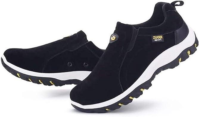 Zapatillas sin Cordones para Hombre Zapatillas de Escalada Suela Exterior de Goma Botas de Cazador para el Deporte al Aire Libre Viaje Camping Mountain Trek Boots: Amazon.es: Zapatos y complementos