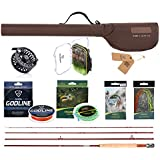 FISHINGSIR Fly Rod and Reel Combo Anglers Fly Fishing Outfit Complete Starter Full Kit
