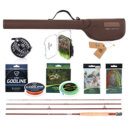9wt Lines (Fly Fishing Combo Set: Fly Fishing Rod,Fast Action Fly Rod, Braided Fishing Line,Fly Fishing Line leader Connector)