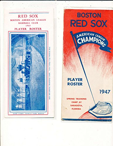 1944 Boston Red Sox Spring Training Player Roster (only listed) - Boston Red Sox Roster
