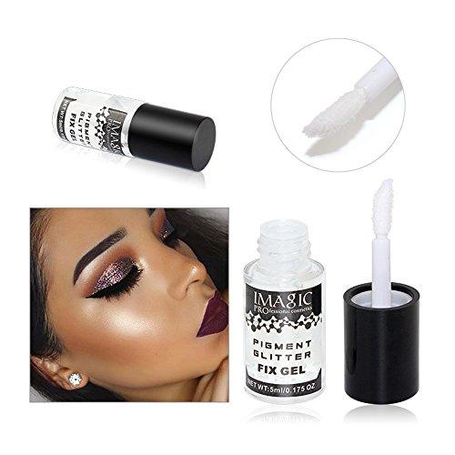 - Clear Glitter Fix Gel Body Primer Glue Fixing Loose Glitter Shimmer Eyeshadow Long Lasting