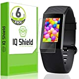 Fitbit Charge 3 Screen Protector (6-Pack), IQ Shield LiQuidSkin Full Coverage Screen Protector Fitbit Charge 3 HD Clear Anti-Bubble Film