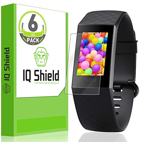 IQ Shield Screen Protector Compatible with Fitbit Charge 3 (6-Pack) Anti-Bubble Clear Film
