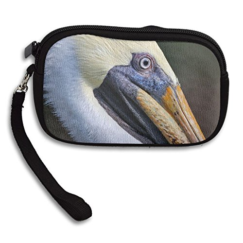 Deluxe Portrait Small Receiving Bag Brown Printing Pelican Purse Portable 5EUqqvwB