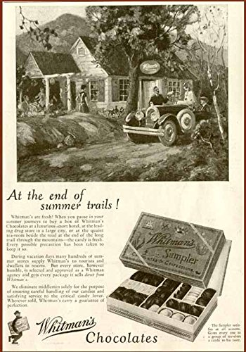 Lovely END of Summer Trails WHITMAN'S Sampler AD 1926 Original Paper Ephemera Authentic Vintage Print Magazine Ad/Article