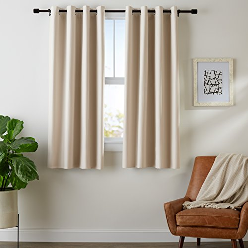 (AmazonBasics Room Darkening Blackout Window Curtains with Grommets Set, 42