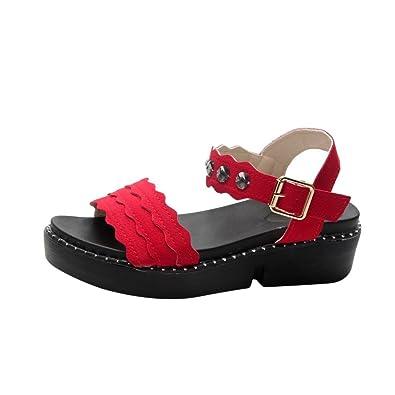 Sandalen Damen Sommer Elegant Flip Flops Schuhe Mode Strandschuhe Zehentrenner Pantoletten Plattform Mode Schuhe...