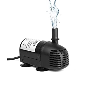 AEO 12V-24V DC Brushless Submersible Water Pump 196 GPH for Solar Fountain Hydroponics and Aquaponics (1 Pack)